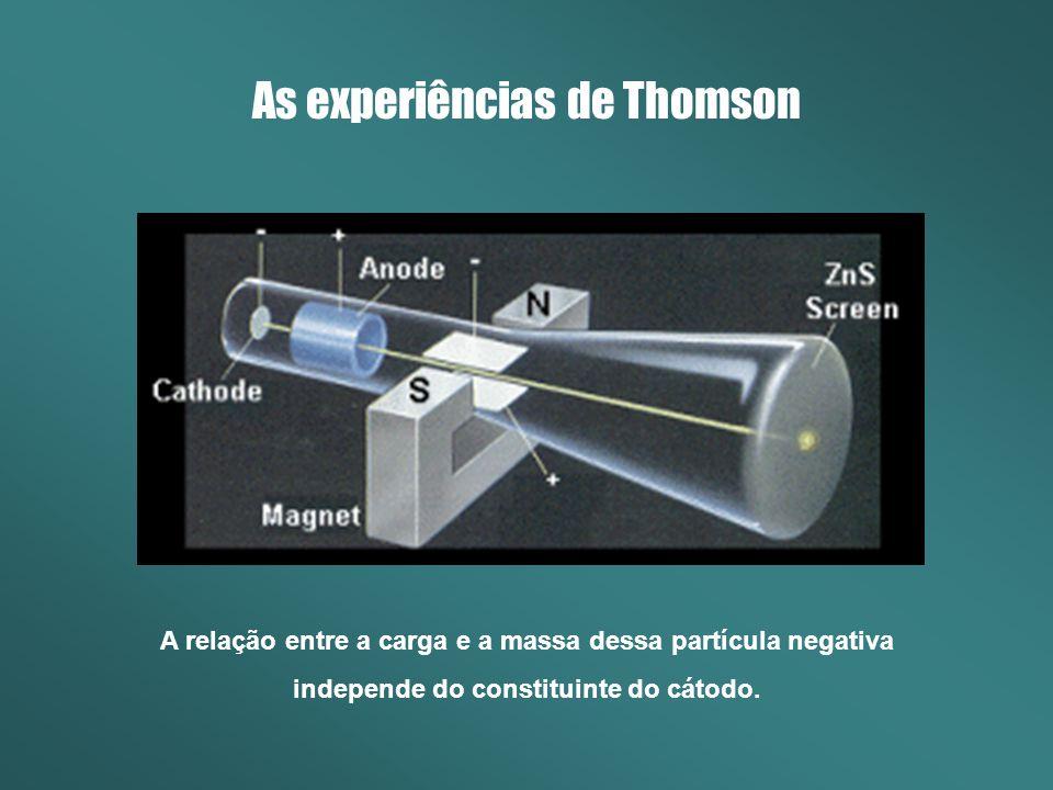 As experiências de Thomson