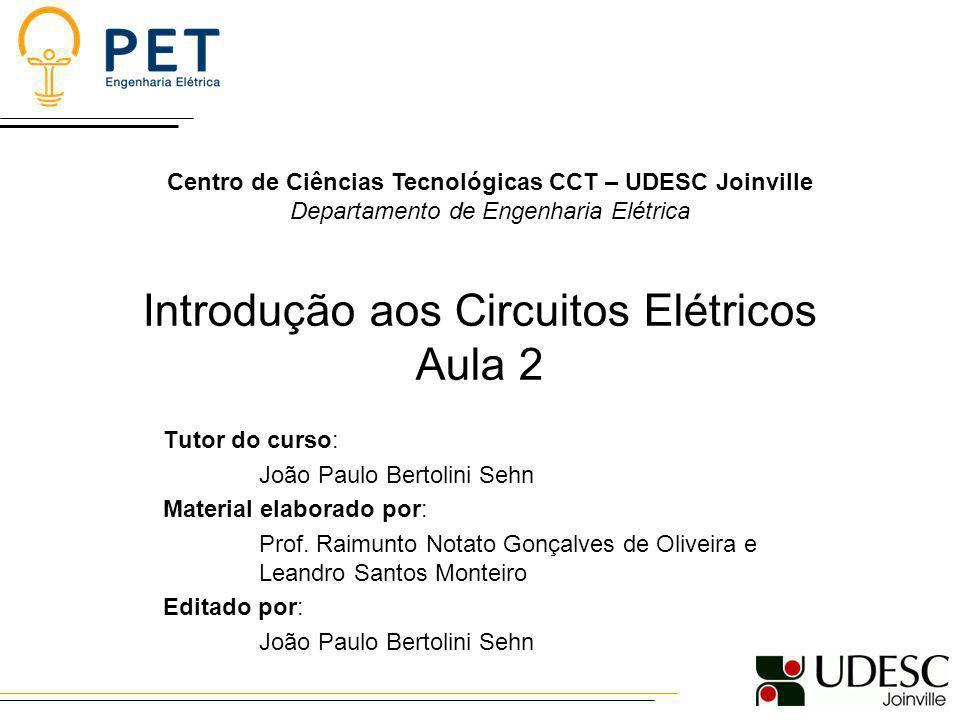 Introdução aos Circuitos Elétricos Aula 2