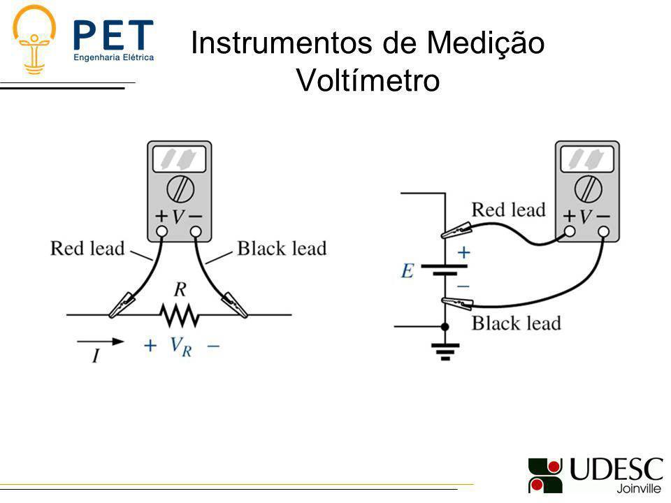 Instrumentos de Medição Voltímetro
