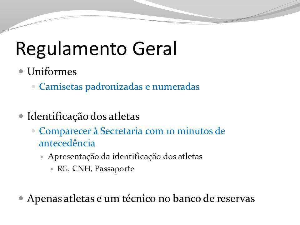Regulamento Geral Uniformes Identificação dos atletas