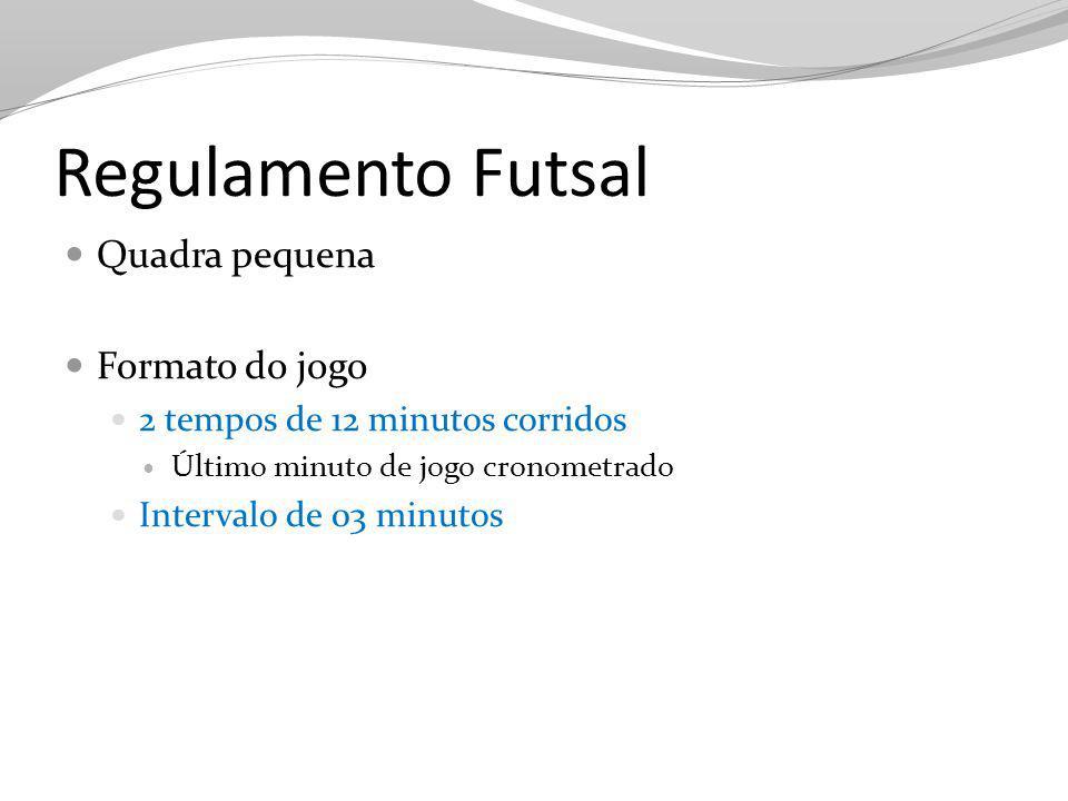 Regulamento Futsal Quadra pequena Formato do jogo