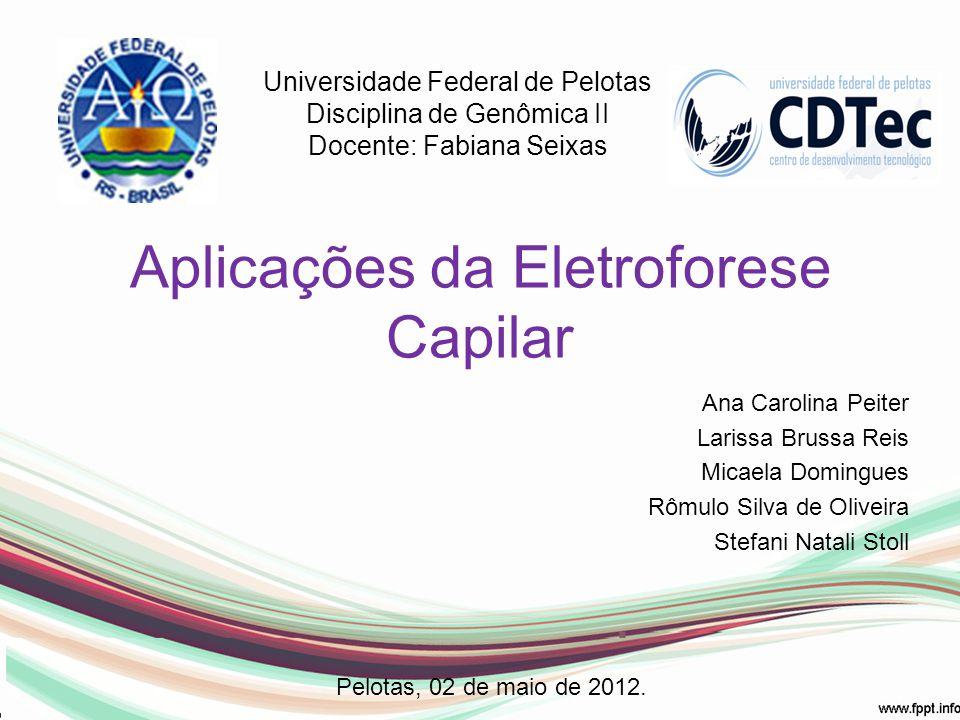 Aplicações da Eletroforese Capilar