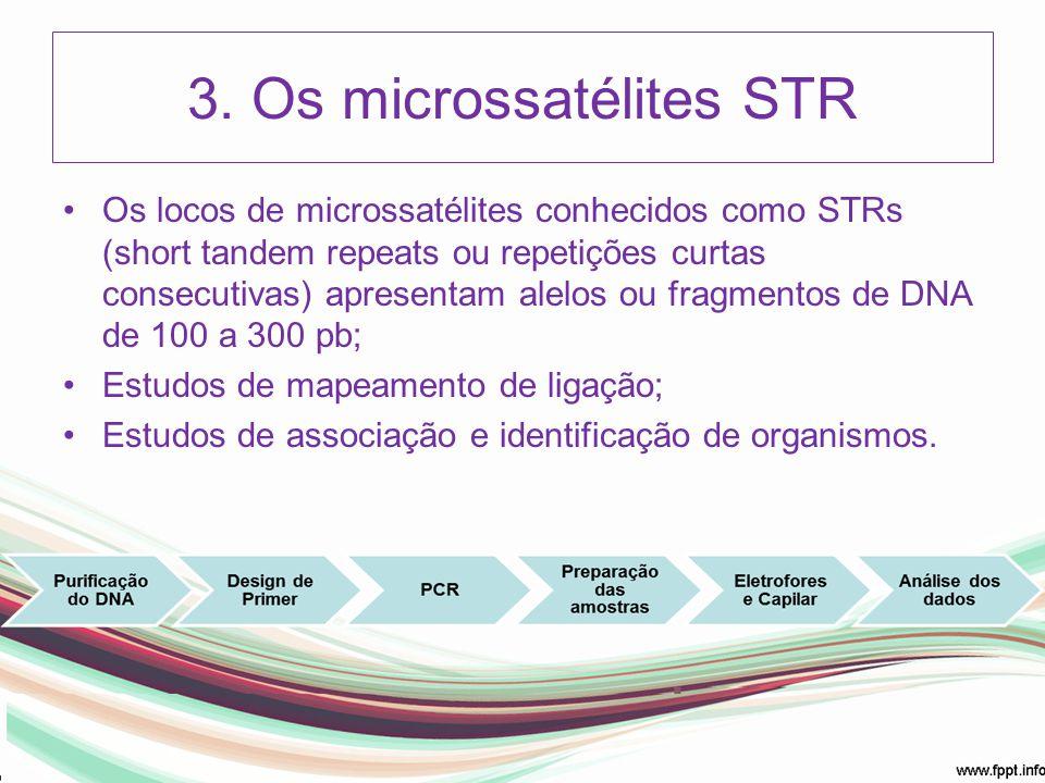 3. Os microssatélites STR