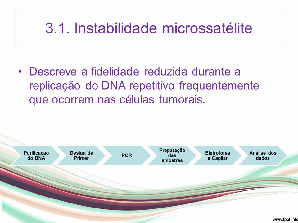 3.1. Instabilidade microssatélite