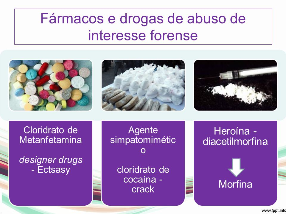 Fármacos e drogas de abuso de interesse forense