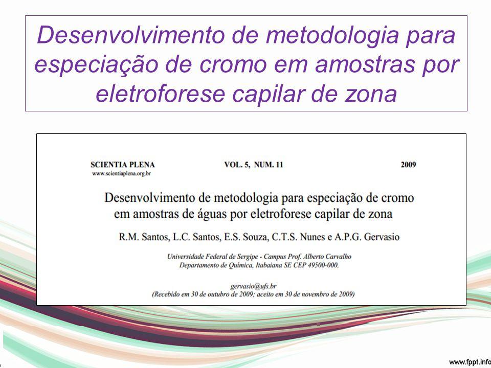 Desenvolvimento de metodologia para especiação de cromo em amostras por eletroforese capilar de zona