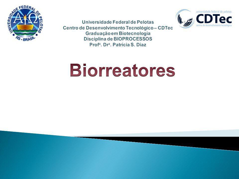 Universidade Federal de Pelotas Centro de Desenvolvimento Tecnológico – CDTec Graduação em Biotecnologia Disciplina de BIOPROCESSOS Profa. Dra. Patrícia S. Diaz