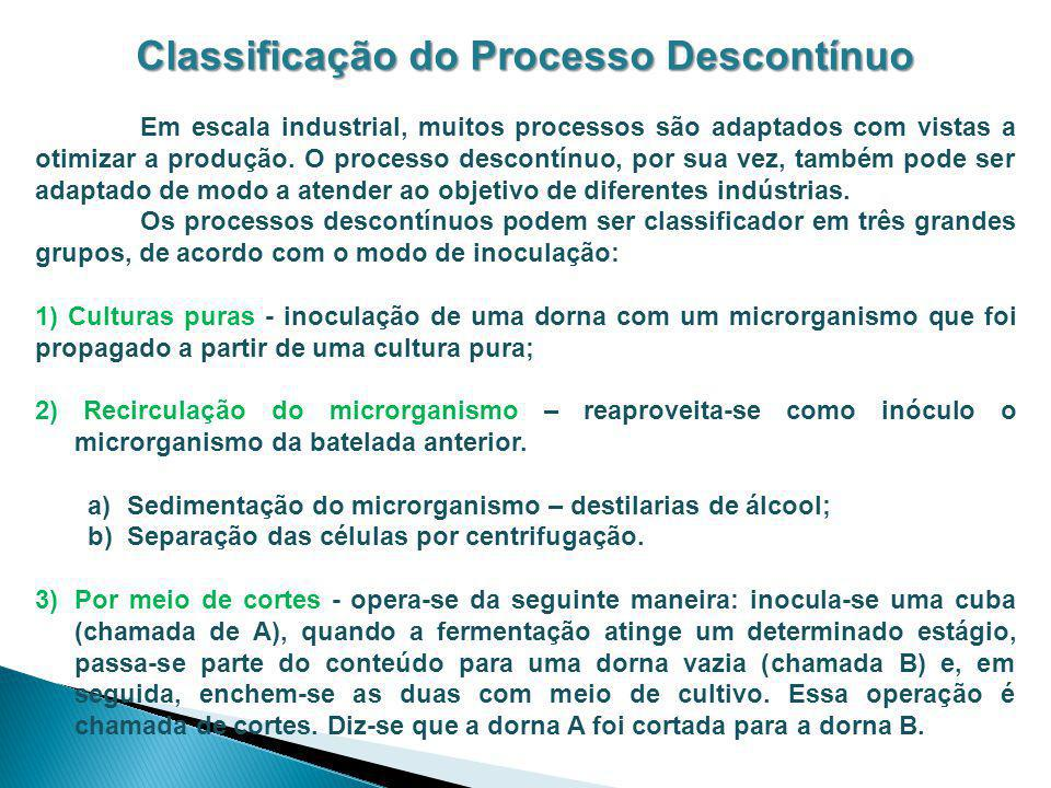 Classificação do Processo Descontínuo