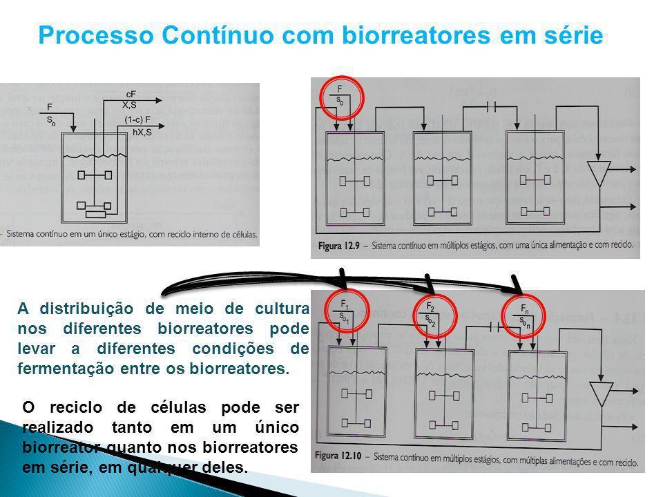 Processo Contínuo com biorreatores em série