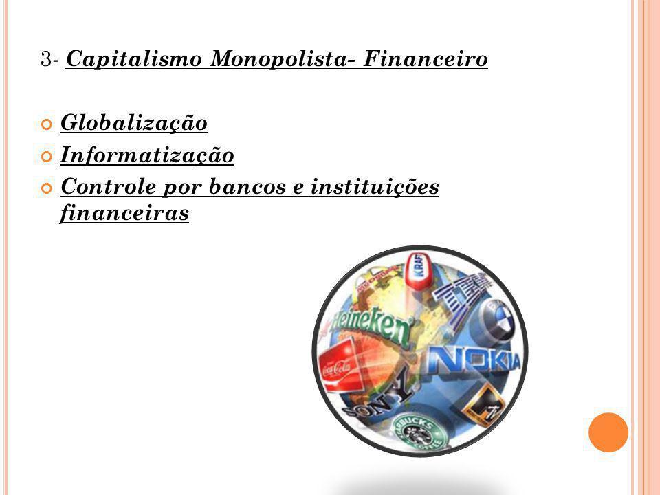 3- Capitalismo Monopolista- Financeiro