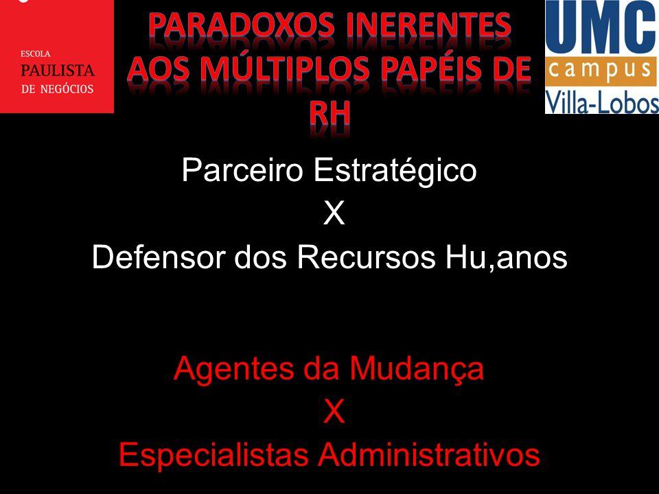 PARADOXOS INERENTES AOS MÚLTIPLOS PAPÉIS DE RH