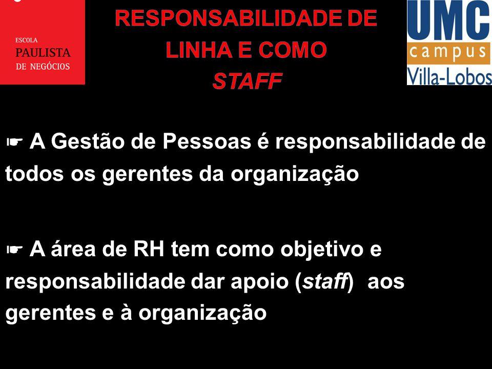 RESPONSABILIDADE DE LINHA E COMO STAFF