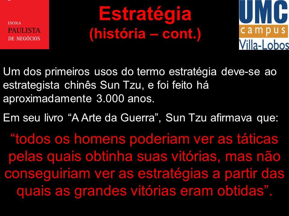 Estratégia (história – cont.)