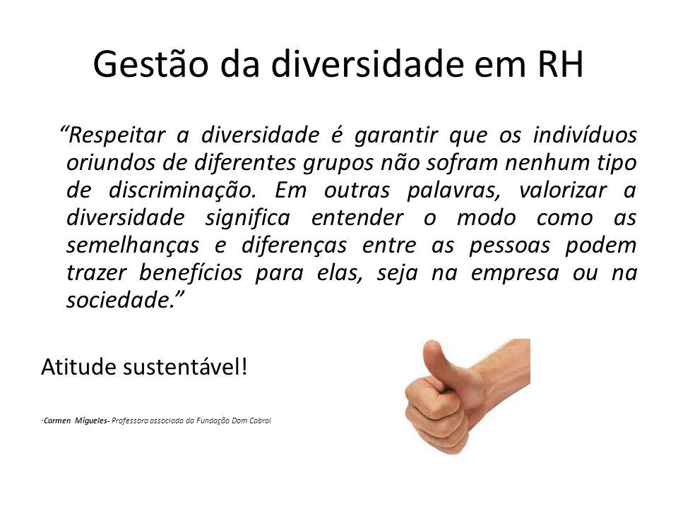 Gestão da diversidade em RH