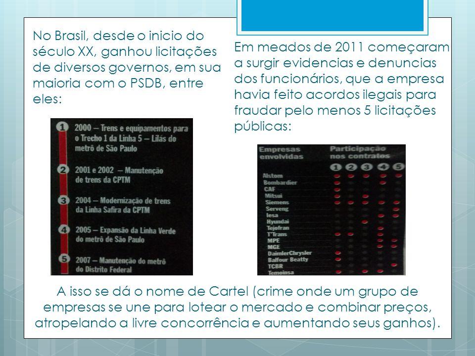 No Brasil, desde o inicio do século XX, ganhou licitações de diversos governos, em sua maioria com o PSDB, entre eles:
