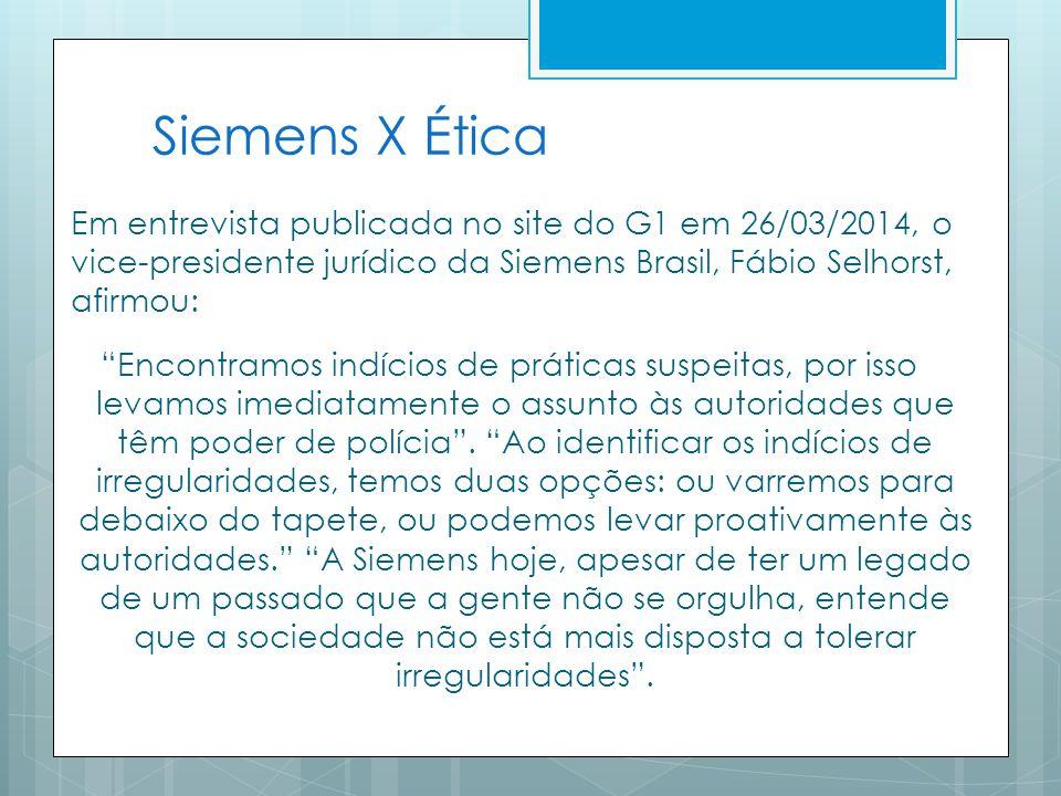 Siemens X Ética