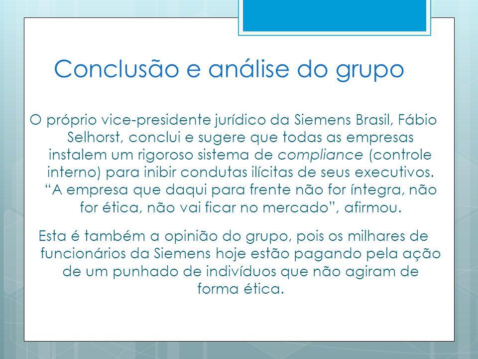 Conclusão e análise do grupo