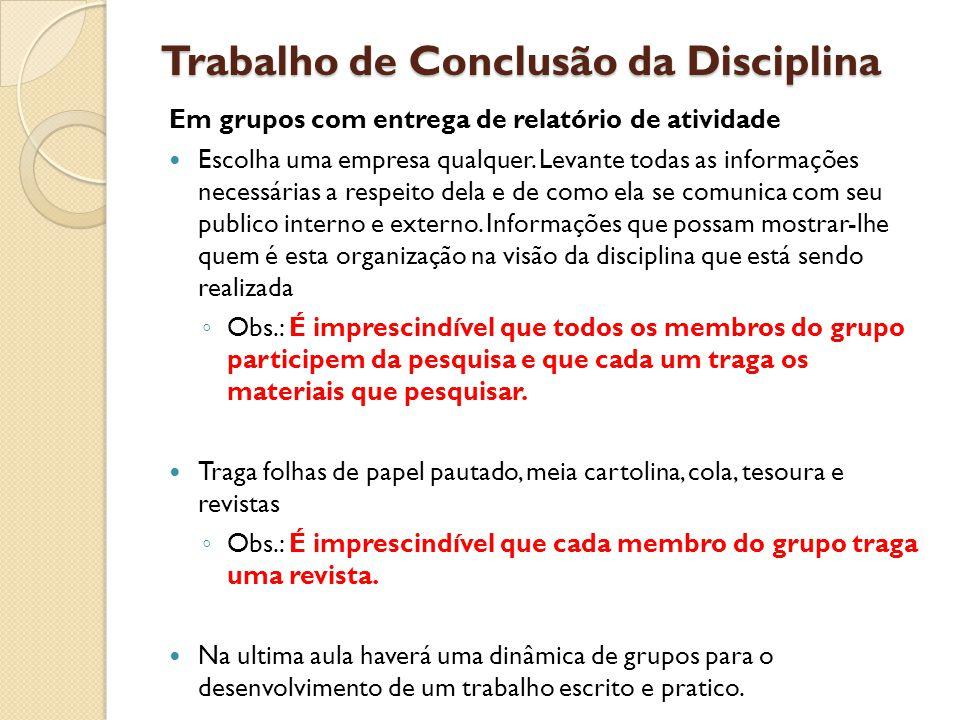 Trabalho de Conclusão da Disciplina