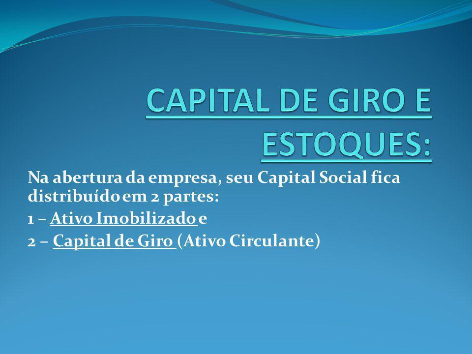 CAPITAL DE GIRO E ESTOQUES: