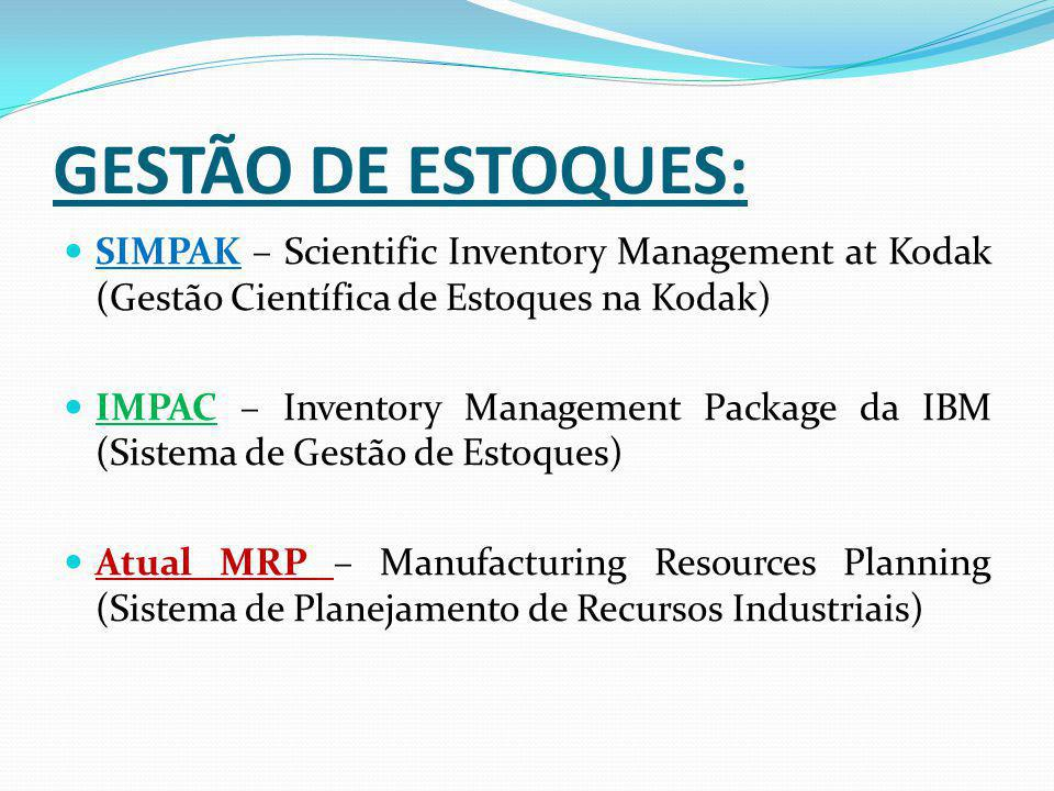 GESTÃO DE ESTOQUES: SIMPAK – Scientific Inventory Management at Kodak (Gestão Científica de Estoques na Kodak)