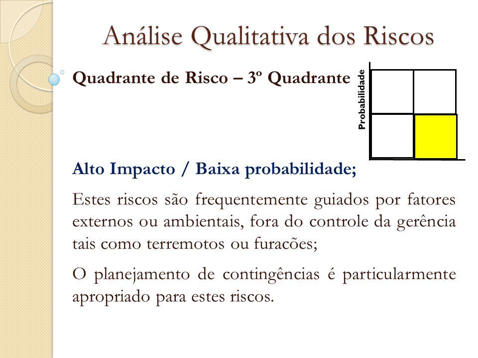 Análise Qualitativa dos Riscos