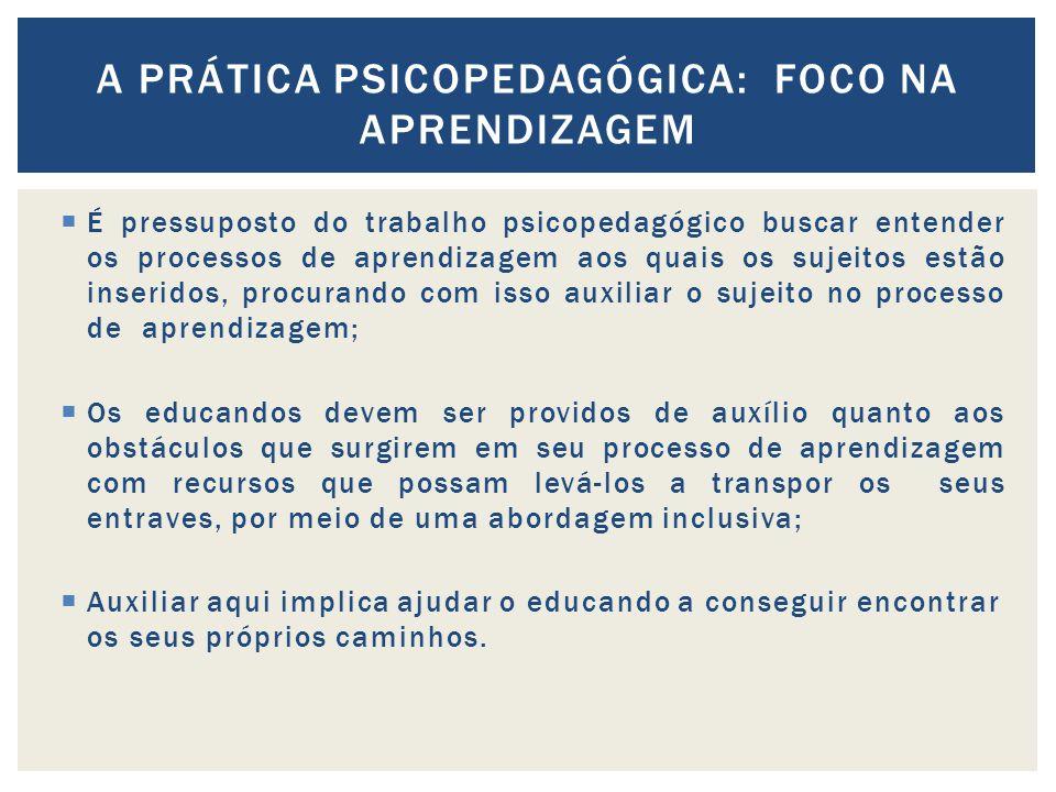 A prática psicopedagógica: foco na aprendizagem