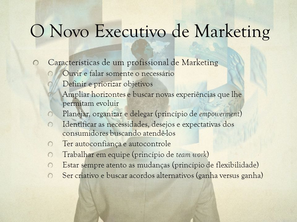 O Novo Executivo de Marketing