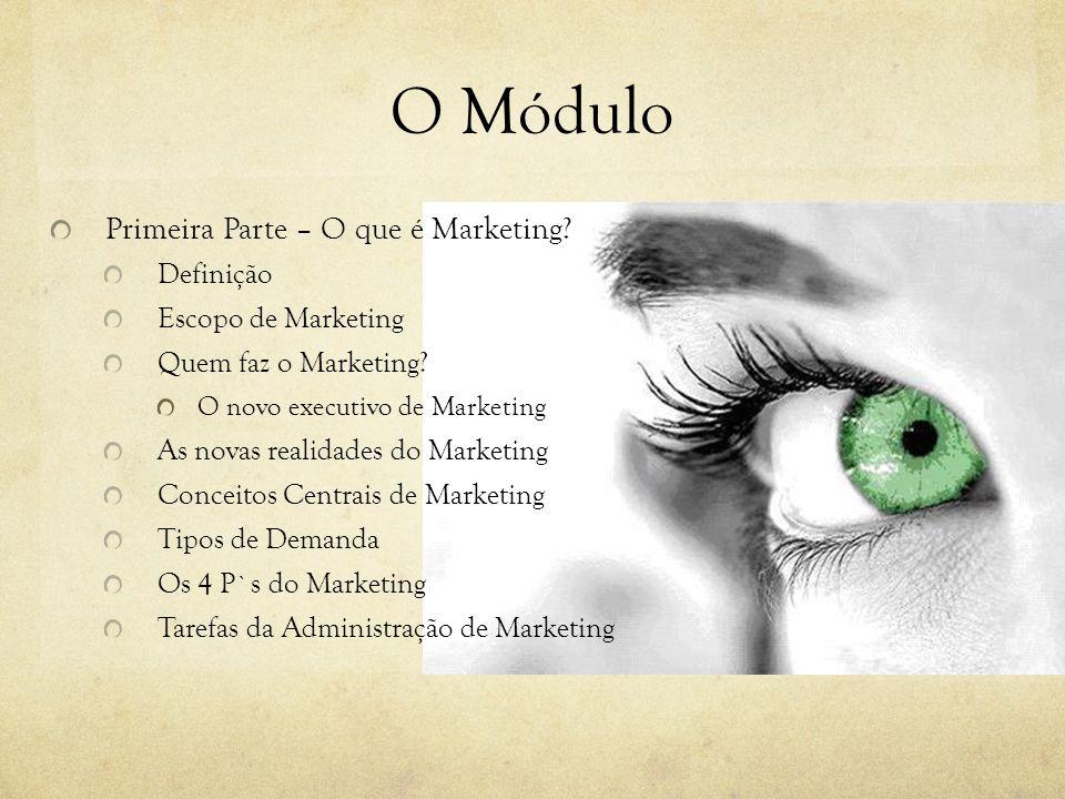 O Módulo Primeira Parte – O que é Marketing Definição