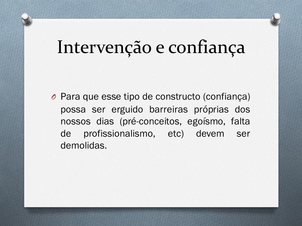 Intervenção e confiança
