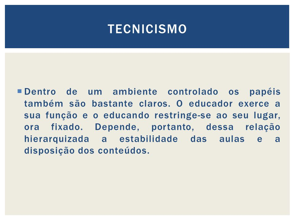 TECNICISMO
