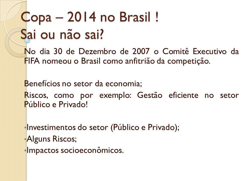 Copa – 2014 no Brasil ! Sai ou não sai