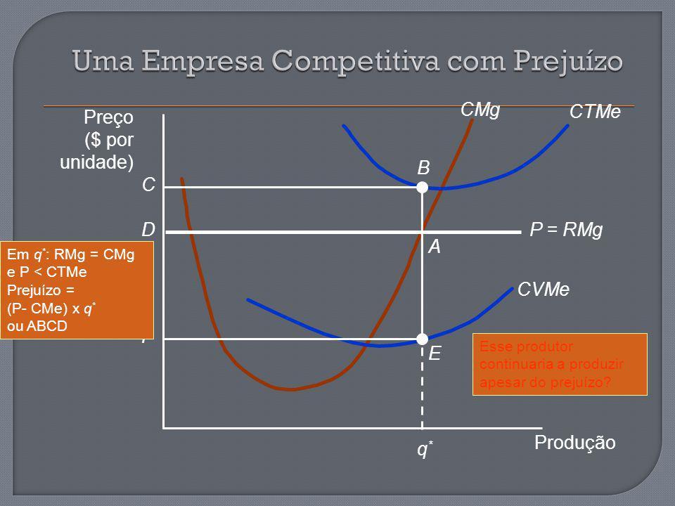 Uma Empresa Competitiva com Prejuízo