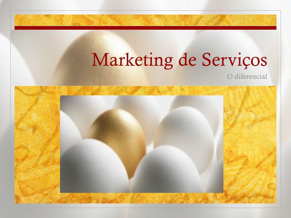 Marketing de Serviços O diferencial