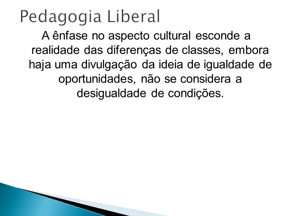 Pedagogia Liberal