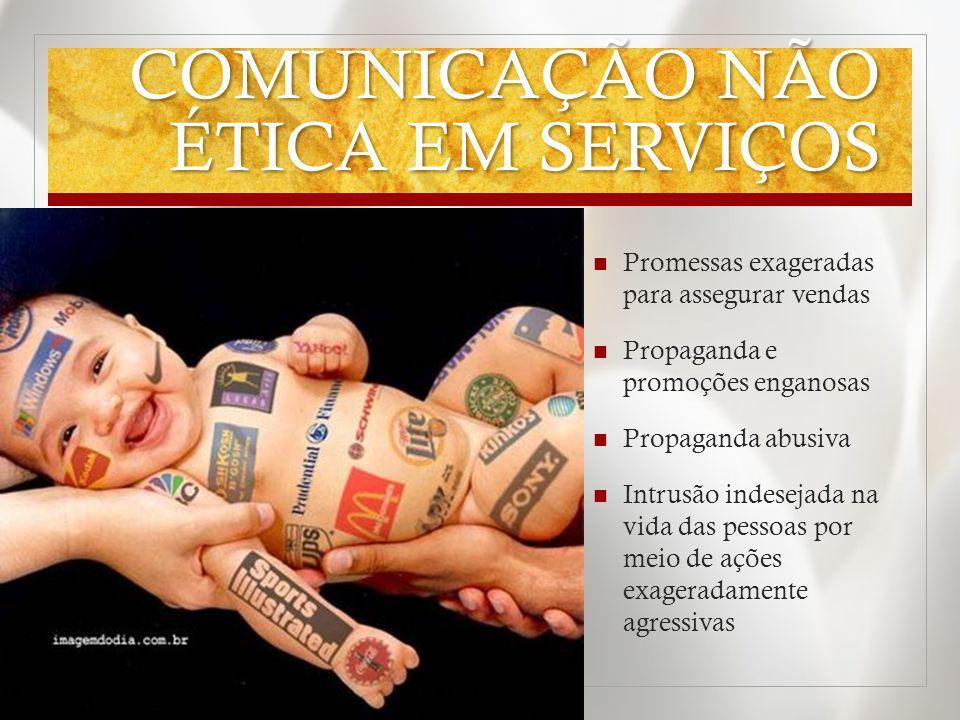 COMUNICAÇÃO NÃO ÉTICA EM SERVIÇOS