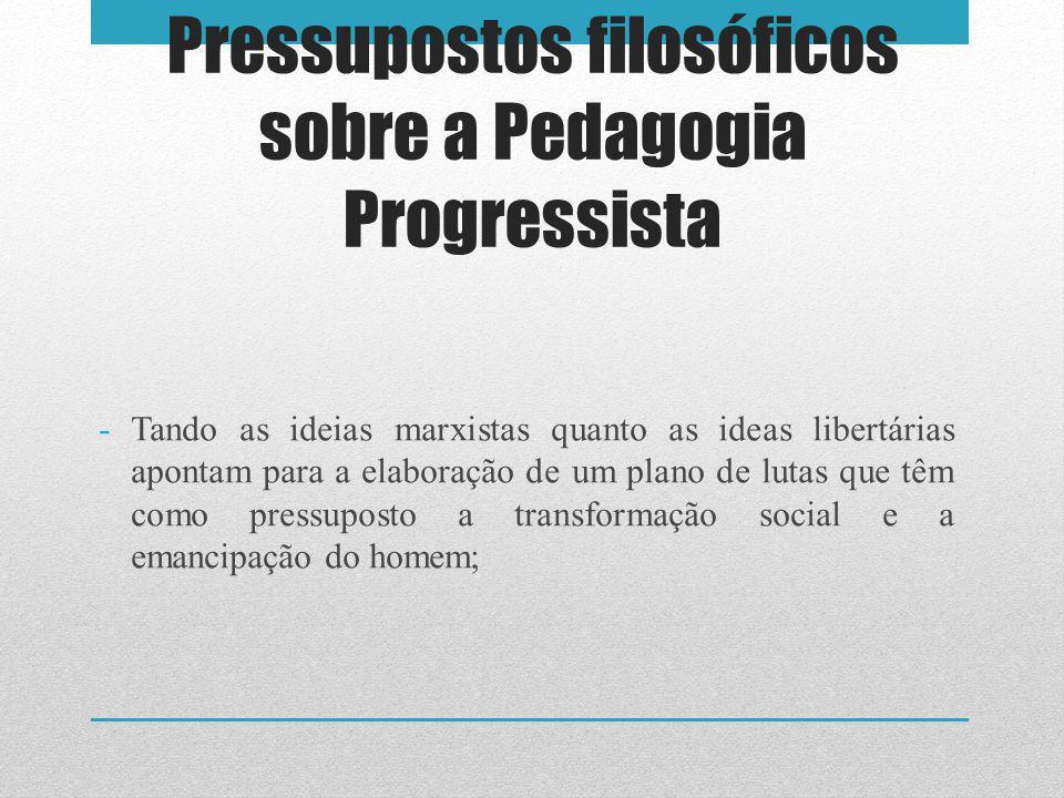 Pressupostos filosóficos sobre a Pedagogia Progressista