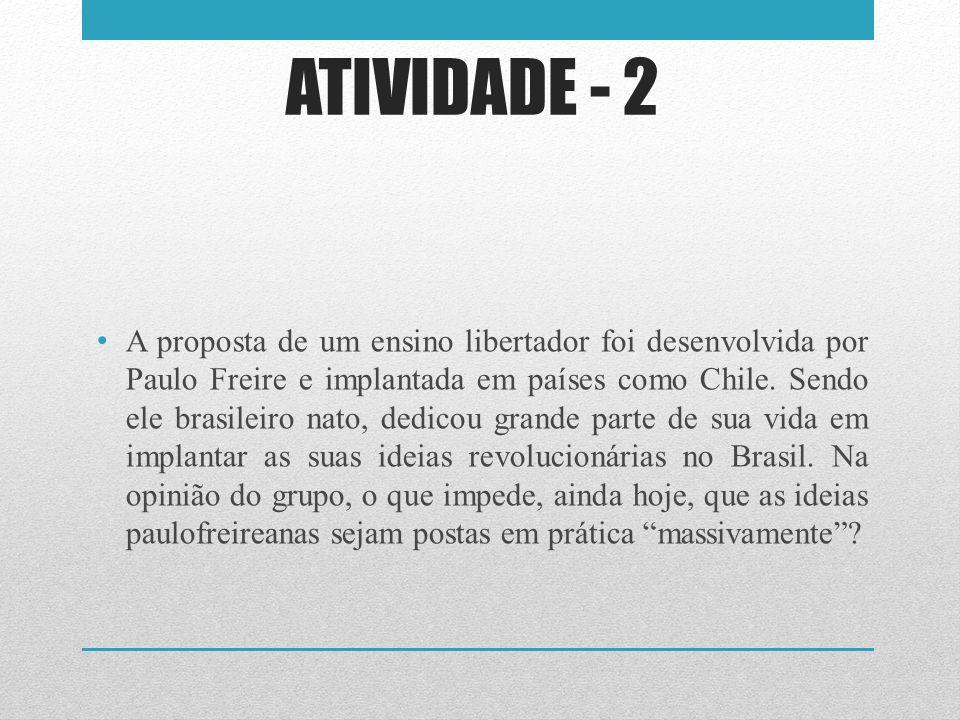 ATIVIDADE - 2
