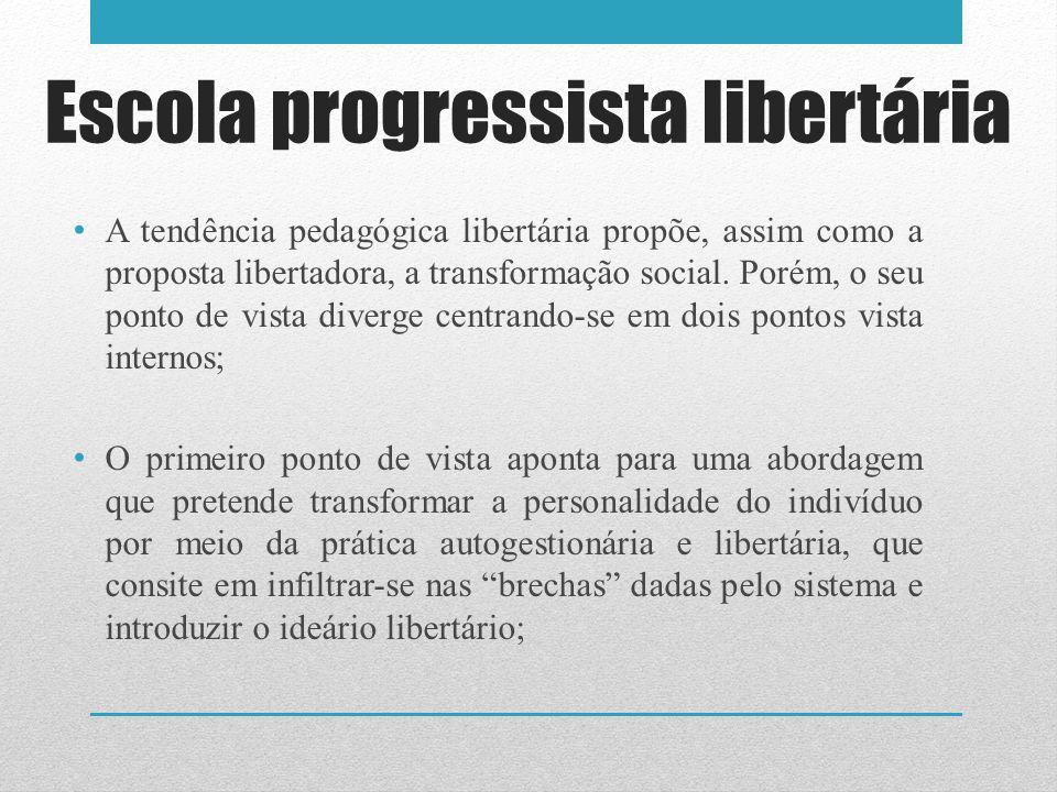 Escola progressista libertária