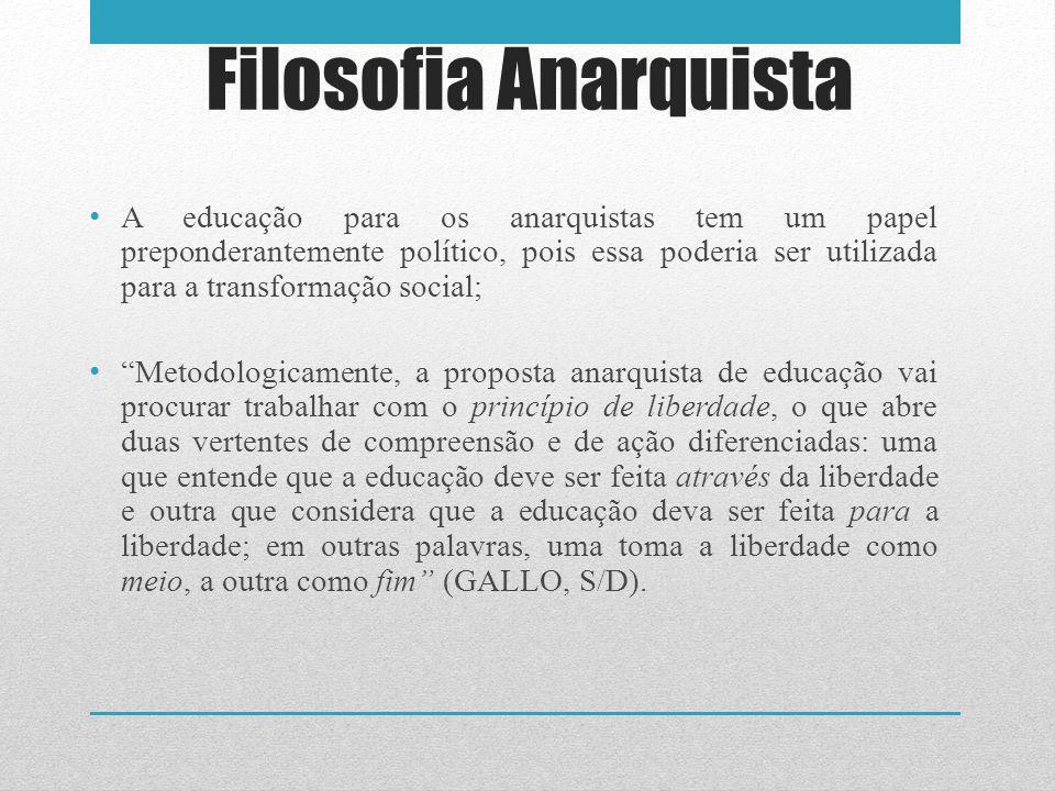 Filosofia Anarquista