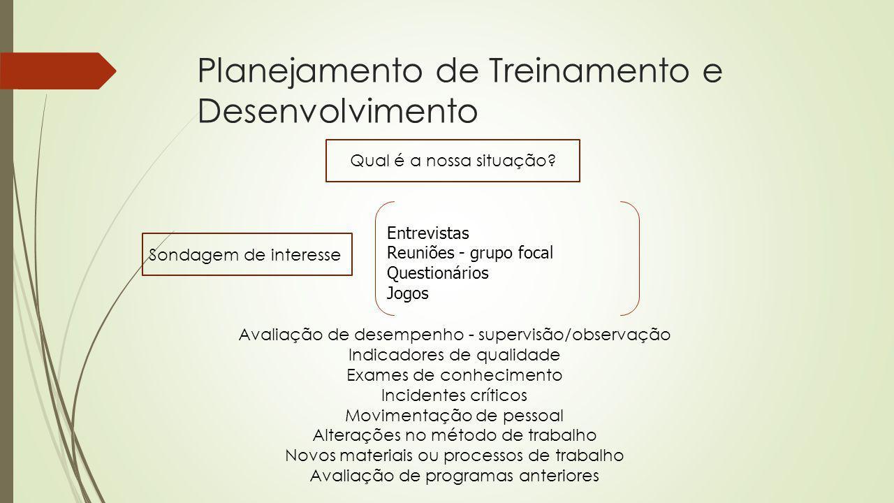 Planejamento de Treinamento e Desenvolvimento