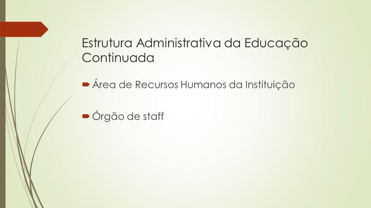 Estrutura Administrativa da Educação Continuada