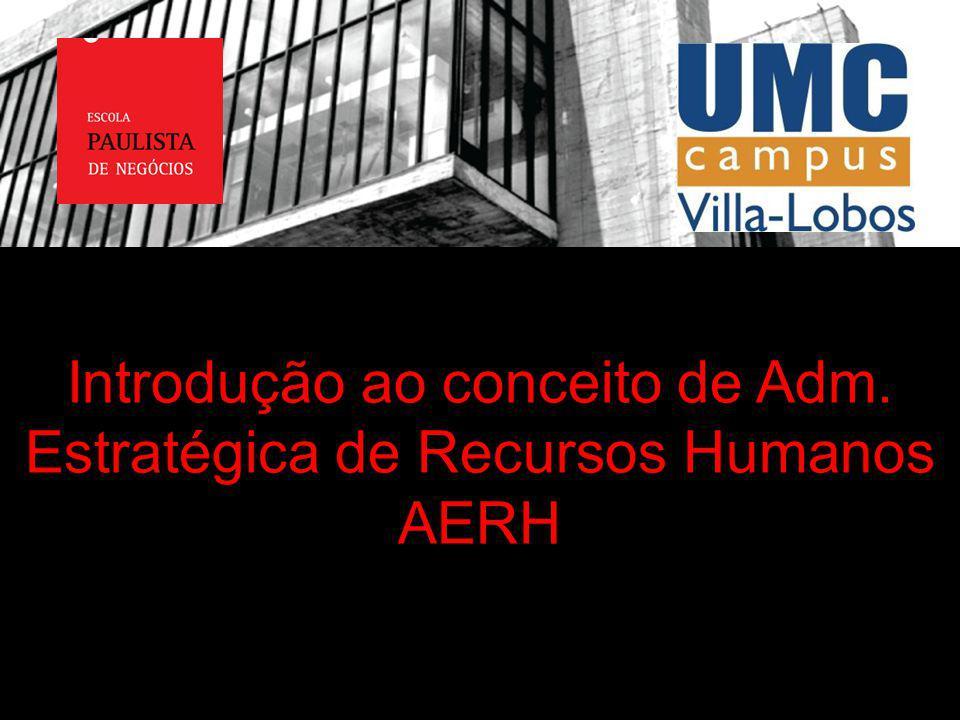 Introdução ao conceito de Adm. Estratégica de Recursos Humanos