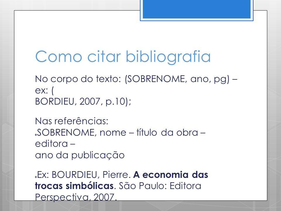 Como citar bibliografia