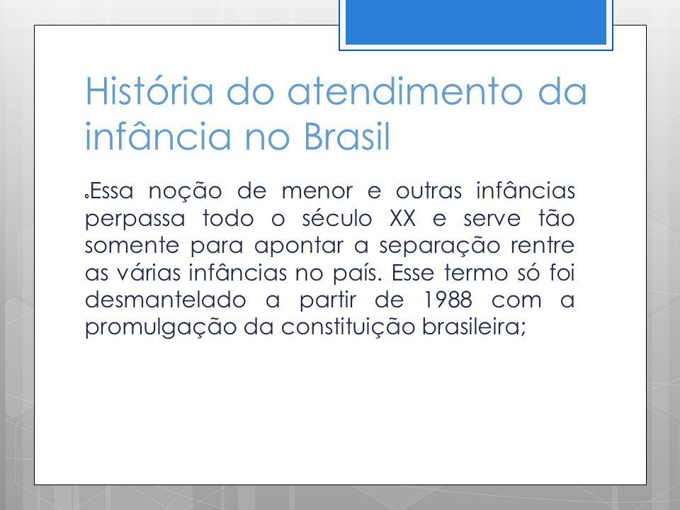 História do atendimento da infância no Brasil
