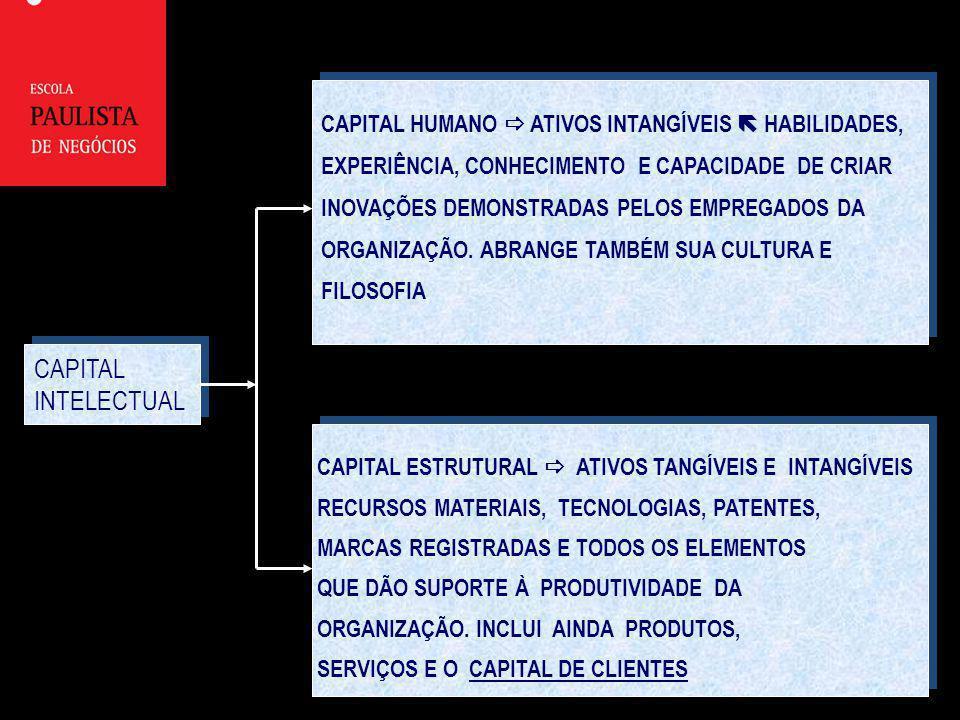 CAPITAL INTELECTUAL CAPITAL HUMANO  ATIVOS INTANGÍVEIS  HABILIDADES,