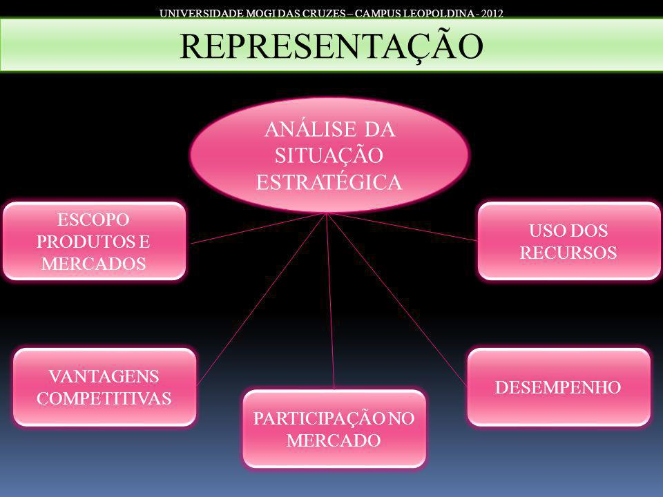 REPRESENTAÇÃO ANÁLISE DA SITUAÇÃO ESTRATÉGICA