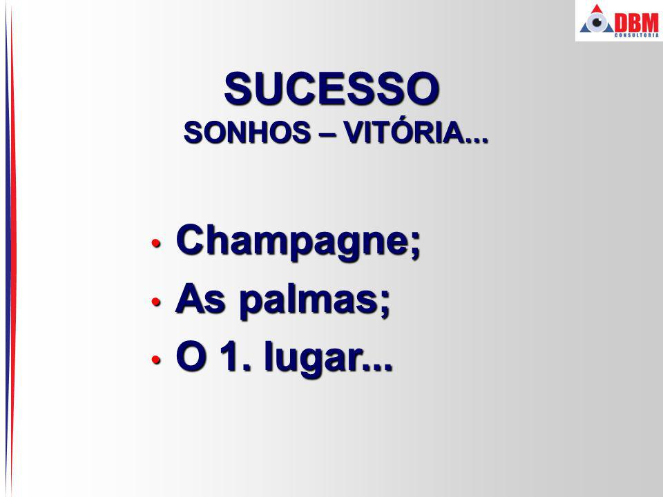 SUCESSO SONHOS – VITÓRIA... Champagne; As palmas; O 1. lugar...