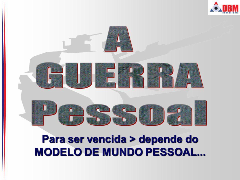 Para ser vencida > depende do MODELO DE MUNDO PESSOAL...