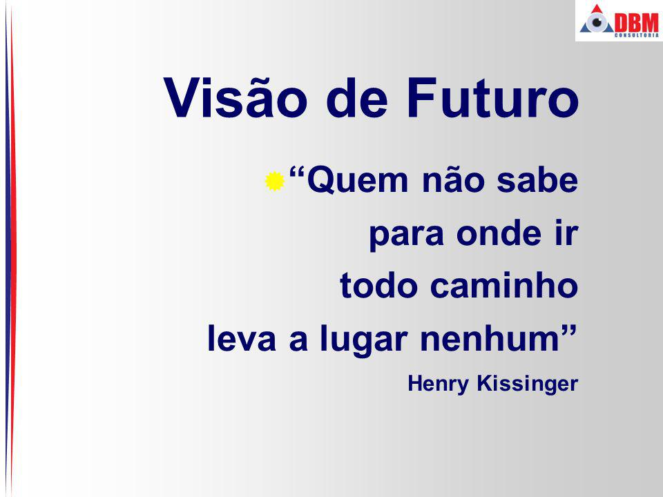 Visão de Futuro Quem não sabe para onde ir todo caminho