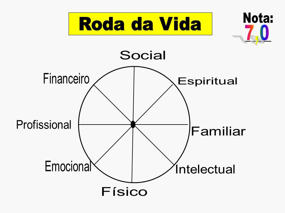 Nota: _____ 7,0 Roda da Vida Social Financeiro Espiritual Profissional